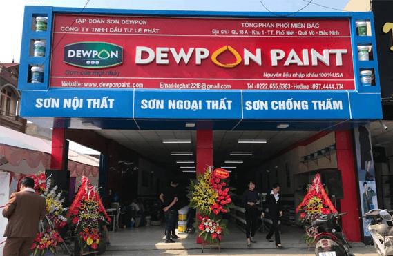Trung tâm phân phối sơn dewpon toàn miền bắc
