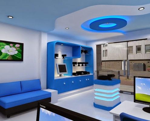 Không gian nội thất cho người mệnh thủy sử dựng sơn dewpon