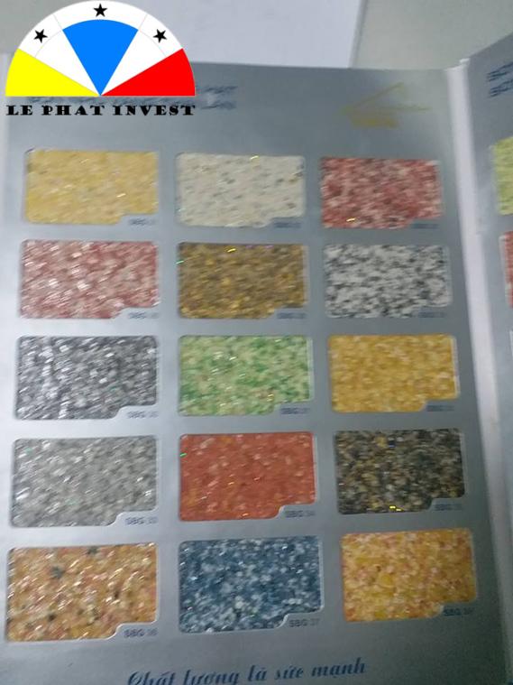 các màu sắc sơn giả đá