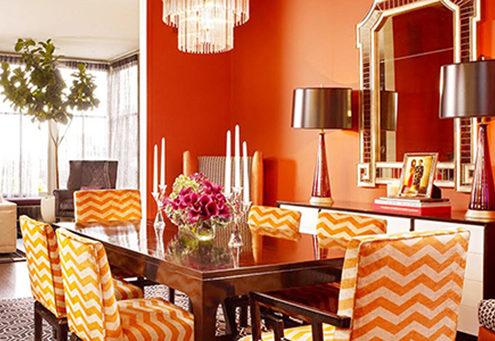 sơn màu cam đào nổi bật