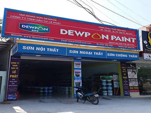 đơn vị phân phối sơn dewpon Lê Phát