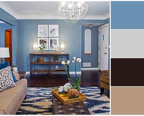 chọn gam màu đẹp cho phòng khách