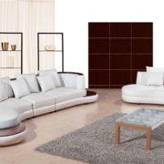 Sơn phòng khách kết hợp vơi sofa trắng