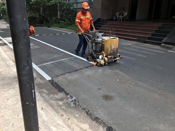Những hạng mục công trình sử dụng sơn giao thông