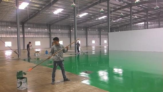 sơn sàn nhà xưởng epoxy